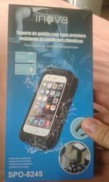 Suporte de celular com capa protetora
