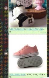 Estoque de roupas e calçados feminino infantil