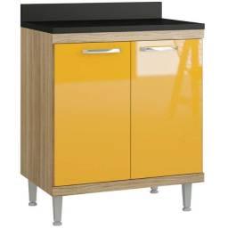 Balcão Multiuso Para Cooktop Amarelo! Direto de Fábrica