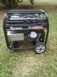 Gerador Toyama 9 Kva bivolt- 2 hrs de uso