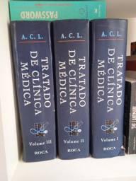 3 Volumes do Tratado de Clínica Médica Ed 2006
