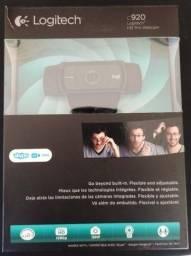 Webcam  Logitech C920 Hd Pro Full Hd 1080p para stream e criação de conteúdo no youtube.