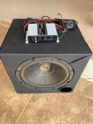 Subwoofer para som automotivo com amplificador
