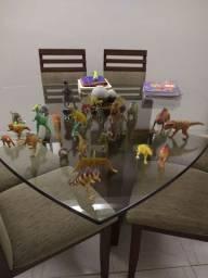 Kit com 14 dinossauros