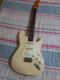 Sx Strato Tradicional Series Olympic White Relic Head Fender