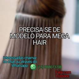 PRECISA-SE DE MODELO PARA APLICAÇÃO DE MEGA HAIR (COM TAXA)