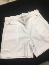 Short Alfaiataria branco