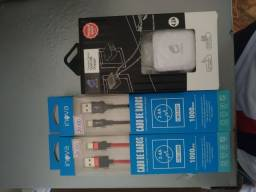 Cabos USB tipo C e lightning promoção pra acabar com o estoque
