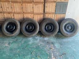 4 pneus da marca Continental 4 rodas da Ranger