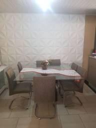 MESA QUADRADA ALTO PADRÃO 1,5m x 1,5m 8 cadeiras