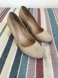 Sapato scarpin salto bloco nude