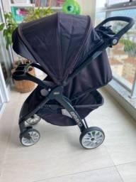 Carrinho de bebê Chico bravo Reclinável + bebê conforto key fit