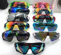 Óculos ciclista proteção Uv400 esportivo Oakley