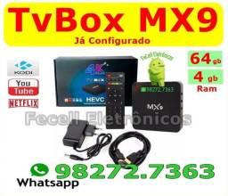 Smartv Box - Mx9 4k 5G - 4GB Ram e 64GB TvBox