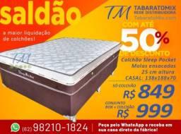 Sleep Pocket Casal, 25CM Molas Ensacadas! Frete Grátis! .