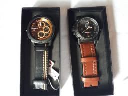 Relógio Naviforce pulseira de couro