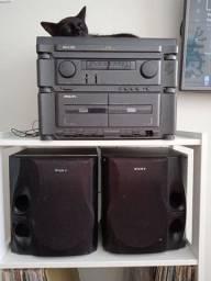 Vendo Rádio Toca Discos Phillips AS125 + 2 Caixas Sony