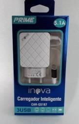 Carregador Rápido INOVA 5.1A tipo Micro USB/V8