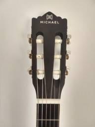 Violão Michael VM19E preto fosco.