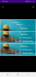Pedreiro, pintor, bombeiro hidráulico, eletricista