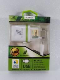 Carregador Rápido XCELL 2.8A tipo Micro USB
