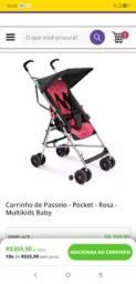 Carrinho de Passeio - Pocket - Rosa - Multikids Baby usado Araguari