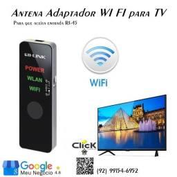 Antena Wi Fi para Smart TV com  Entrada RJ45, Roteador e Repetidor de Sinal