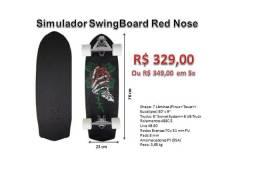 Skate Truck Simulador De Surf Abec 5 Swingboard Red Nose