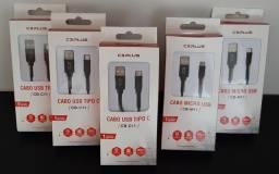 Cabo USB Tipo C em Nylon para Smartphone - NOVO