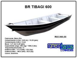 Barco Bicudo Borda alta de 6 metros - BR Tibagi 600