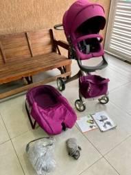 Carrinho de bebê stokke xplory + Moisés  (12x cartão)