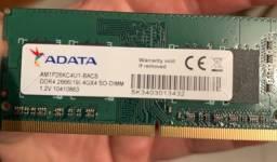 Memória RAM ddr4 4GB para notebook