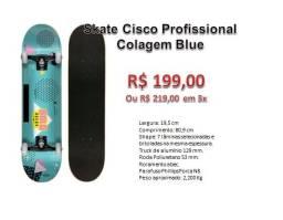 Skate Cisco Profissional Colagem Blue