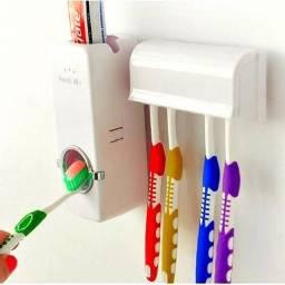 Dispenser Automático para Pasta de Dente+Suporte para Escovas