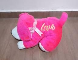 Pelúcia Cachorro pink love