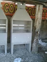 Churrasqueiras premoldadas de concreto