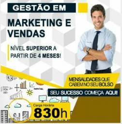 Curso o Curso Superior Sequencial em Gestão de Marketing e Vendas a partir de 3 meses