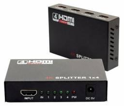 Divisor Hdmi 1x4 Splitter Duplicado Full HD 4k Video Audio