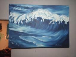 Quadro ondas galopantes