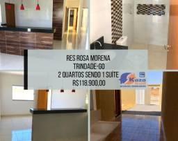Casa 2 quartos sendo 1 suíte, 118.900,00 Residencial Rosa Morena - Trindade - GO