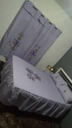 Colcha casal para cama box + cortina