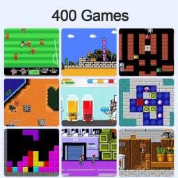 Mini game retro com 400 jogos com conexão tv