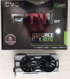 GTX 1070 8gb Gddr5 Evga FTW Dt Gaming Acx 3.0 & Led