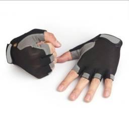 Luva com Meio Dedo Antiderrapante para Ciclismo / Unissex / Respirável / Luva Esportiva