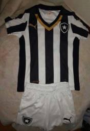 Uniforme Infantil Oficial do Botafogo R$30,00 conjunto