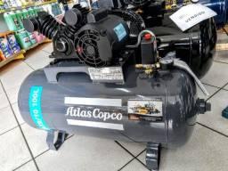 Compressor de ar 10 pés 100lt monofásico 2cv 140psi