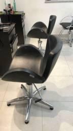 Cadeiras hidráulica marca Haisan para Cabelereiro