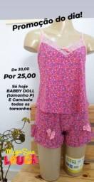 SÓ HOJE  - Baby Dolls e Camisolas na Promoção - 25,00