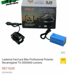 Vendo lanterna para bike NOVO NUNCA USADO