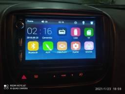 Mídia Android c/ espelhamento + Moldura Fiat